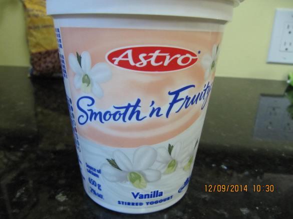 vanilla yougurt