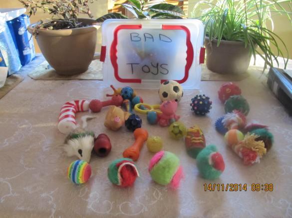 assorted bad toys, soft vinyl, foam, rubber