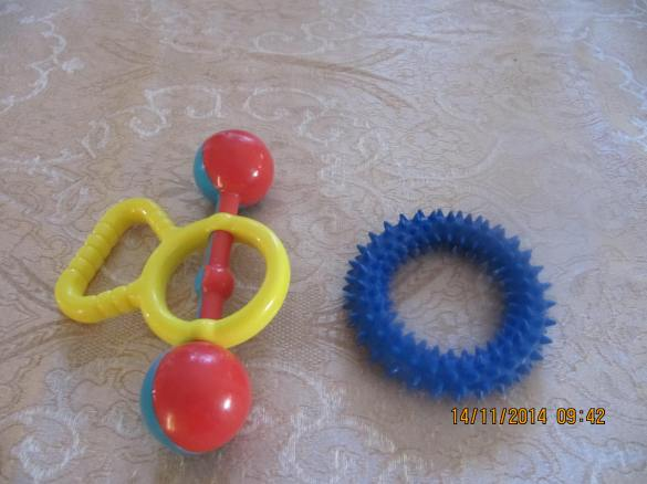 hard plastic/hard rubber ring baby toys-NOT GOOD FOR FERRETS
